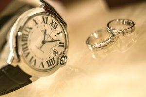 Montre et bagues Cartier