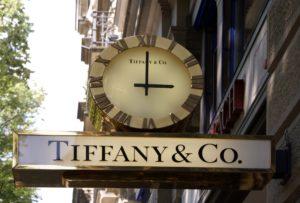 Enseigne de la bijouterie Tiffany à Zurich